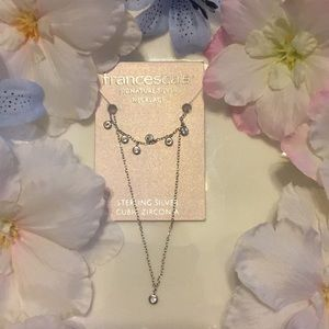 Sterling silver & cubic zirconia necklace!!!
